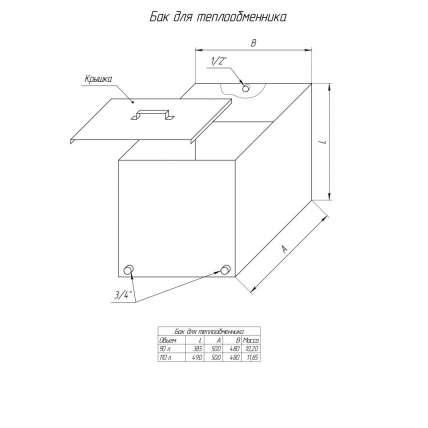 Бак Элит  110 л для теплообменника - ПечиМАКС