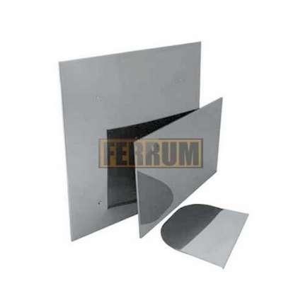 Притопочный лист (нерж. сталь 0,5мм) 1000х600 мм - ПечиМАКС