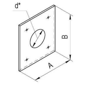 Экран защитный (430|0,5 мм)   500х  500 с отв Ф160