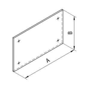 Притопочный лист (оцинк. сталь 0,5мм) 1000х500 мм