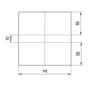 Адаптер ПП нерж. сталь (0,5 мм) Ф110