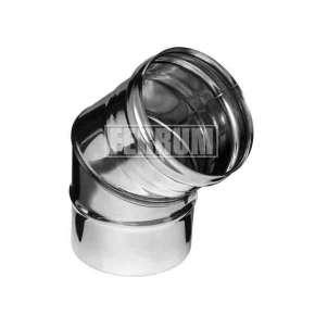 Колено (нерж. сталь 0,5мм) угол 135° Ф220