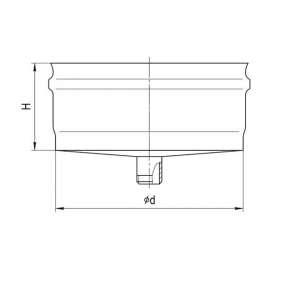 Заглушка верхняя с конденсатотвод (н|ж ст. 0,5мм) Ф100