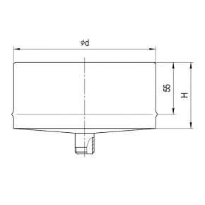 Конденсатоотвод для сэндвича (430/0,5 мм) Ф210 внутренний