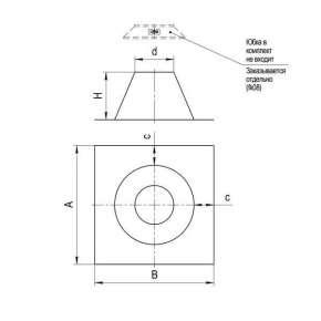 Крышная разделка прямая (нерж) Ф 110 (Ф)