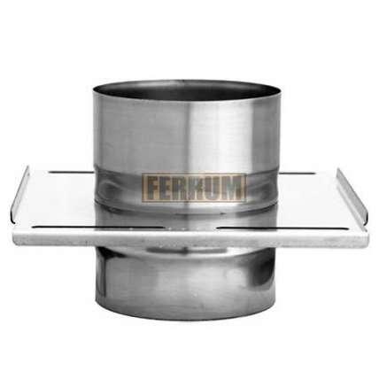 Площадка монтажная одностенная (430/0,8 мм) Ф140 - ПечиМАКС