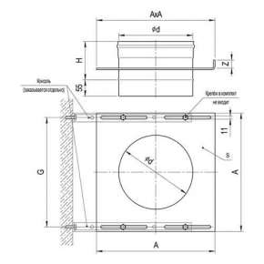 Площадка монтажная одностенная (430/0,8 мм) Ф115