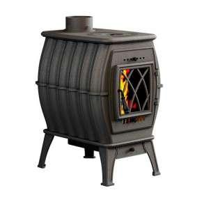 Печь-камин Бахта - цвет черный