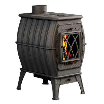 Печь-камин Бахта - цвет черный металлик - ПечиМАКС
