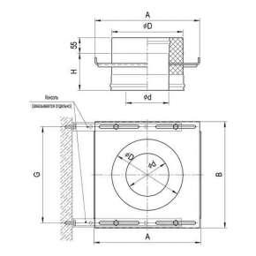 Площадка монтажная (оцин. сталь 2,0мм) Ф 200х120 по конденсату