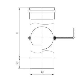 Шибер (нерж. сталь 0,5мм) Ф110