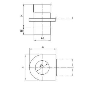 Шибер-задвижка (430/0,8 мм) Ф115