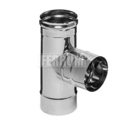 Тройник  90° (430|0,8 мм) Ф110 - ПечиМАКС