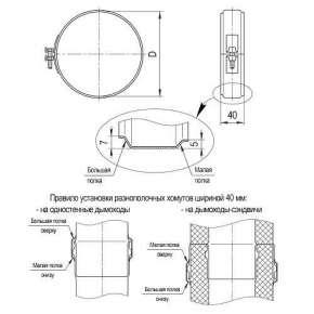Хомут обжимной (нерж. сталь 0,5мм) Ф197-200