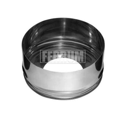 Заглушка с отверстием (430/0,5 мм) Ф300х400 внутренняя - ПечиМАКС