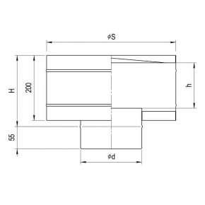 Зонт-Д с ветрозащитой (нерж. сталь 0,5мм) Ф110