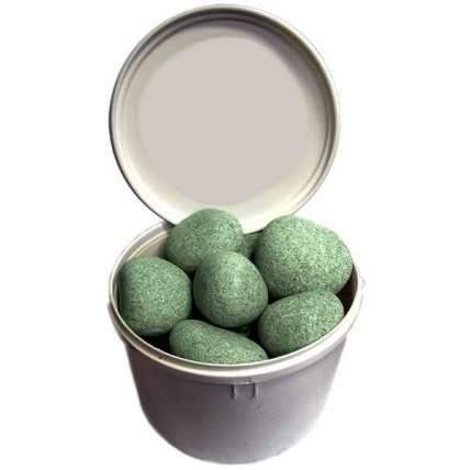 Камень для бани жадеит шлифованный средний 20кг - ПечиМАКС