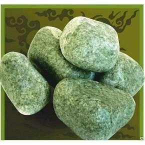 Камень для бани жадеит шлифованный средний 20кг