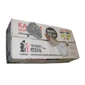 Камень МИКС (талькохлорит, дунит, кварцит) 30кг.