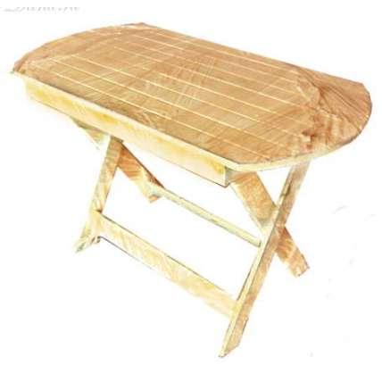 Стол для бани овальный раскладной 1400 мм - ПечиМАКС