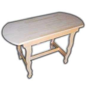 Стол для бани овальный разборный с резными ножками 1000 мм