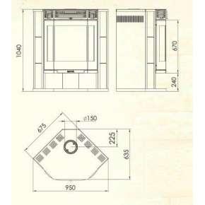 Печь-камин АМУР 12