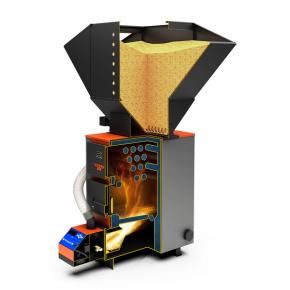 Автоматическая пеллетная горелка Теплодар АПГ 25, 42