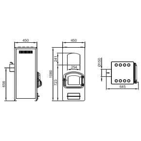 Печь Герма ТМФ (Термофор) ТМФ 250м3