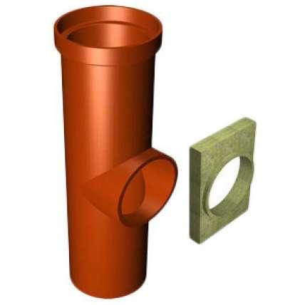 Керамический тройник 90° Tona (Тона) TTRA12-90 FP - ПечиМАКС