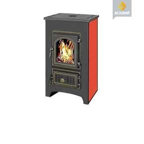 Печь камин Везувий ПК-01 (270) красная с плитой