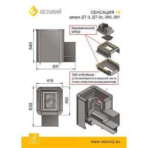 Печь Везувий Сенсация 12 Антрацит (ДТ-3С)