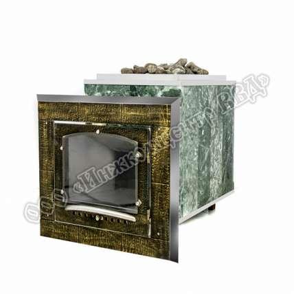 Чугунная печь для бани Калита (дверца с кованной отделкой) - ПечиМАКС