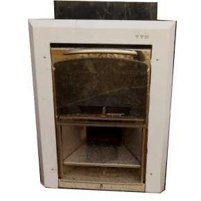 Чугунная печь для бани Калита (дверца вертикальный механизм открывания)
