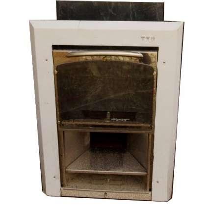 Чугунная печь для бани Калита (дверца вертикальный механизм открывания) - ПечиМАКС