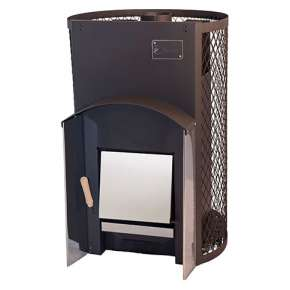 Печь для бани Вулкан Прометей 24  с сетчатым кожухом